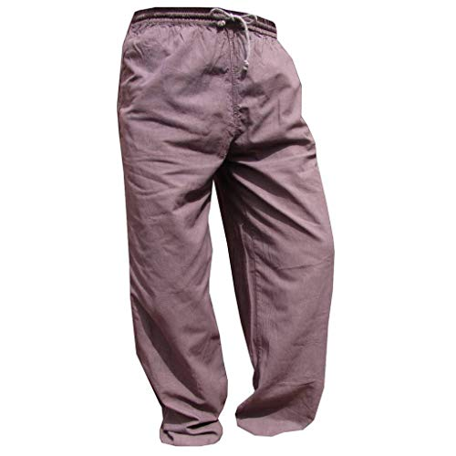 PANASIAM E'Pants Long, Cotton, greybrown, L