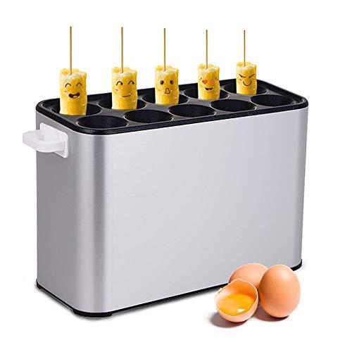 BAOSHISHANスティックパンケーキメーカー 10管スティック パンケーキメーカー 電動 卵ソーセージメーカー 卵ロールメーカー オムレツ 朝食 バーベキューピルメーカー ホットドッグ焼成機 業務用 家庭用シルバーグレー (110V)