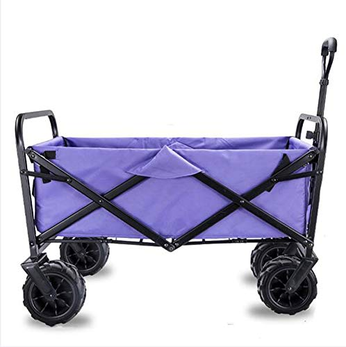 SHUSHI Carretillas de Mano Carro Plegable con Frenos para Jardín, Carrito Transportador...
