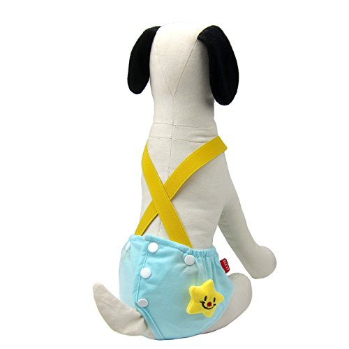 Alfie Pet - Helia Diaper Dog Sanitary Pantie with Suspender - Color: Torquoise, Size: Large (for Girl Dogs)