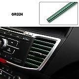 DIANXM 10 unids Molduras Auto Aire Outlet Trim Tiro Auto Air Vent Prilles Rim Trim Autos Decoración Strips Accesorios para automóviles Universal (Color : Green)
