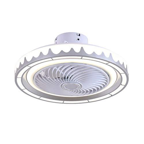 Ventilador de Techo Invisible Moderno con Iluminación, Lámpara de Techo con Ventilador Silencioso con Control Remoto para Sala de Estar, Dormitorio, 3 Velocidades de Viento Ajustables