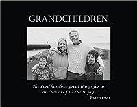 Havoc Gifts 3112-SB Grandchildren Scripture Engraved Frame, Small, Black [並行輸入品]