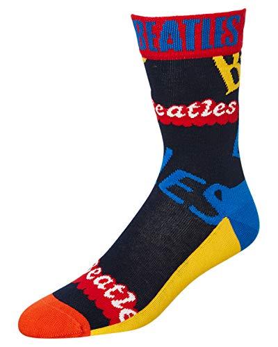 Happy Socks Herren & Damen The Beatles Überall Logo 2019 Baumwolle Socken Packung mit 1 Gemischt 36-40