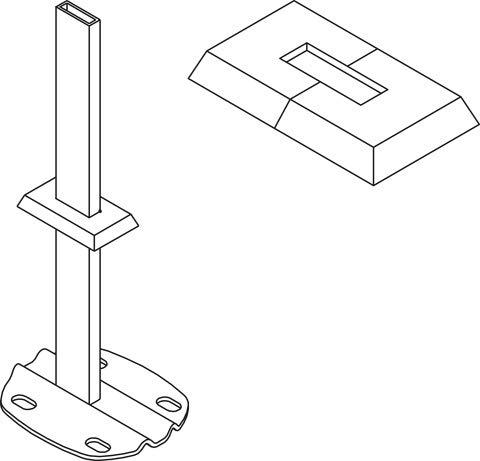 Kermi Blende Rohbodenmontage 30x10mm, weiß ZB01190001