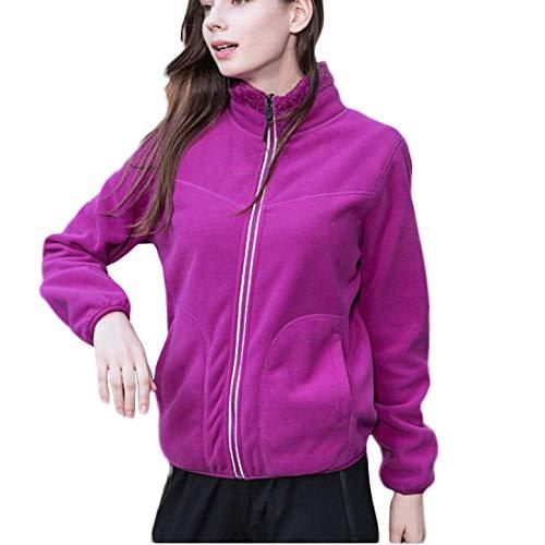 RYDRQF damesjas, extra groot, met ritssluiting, winterjas, trui voor dames, eenkleurig, warm, winddicht, dun, met ritssluiting