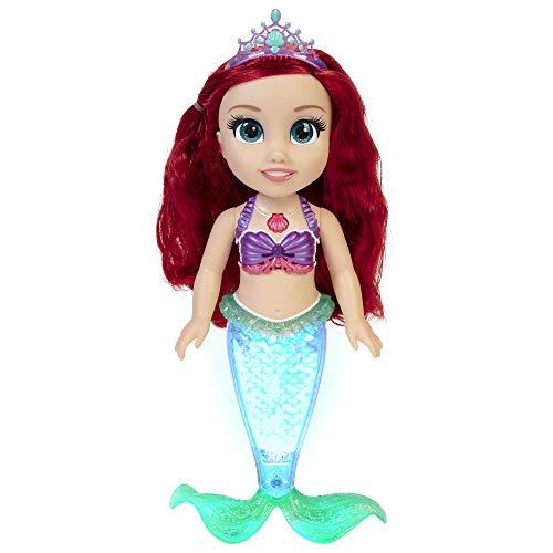 Disney 1 Puppe 212134 DP Arielle Sing & Glitzer 2 35 cm für Badewanne, Pool, Planschbecken und Kinderzimmer Funktionspuppe, bunt