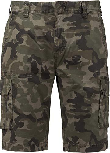 Kariban Bermuda Multipoches Homme - Olive Camouflage, 38 FR, Homme