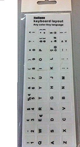 DN Italian Learning Keyboard Layout Sticker Tasti Adesivi per Laptop pc Bianco