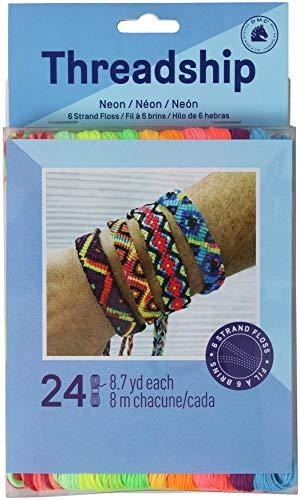 DMC Prism-NEON Prism 6-Strand Floss Pack 8.7 yd, Neon, Pack of 24