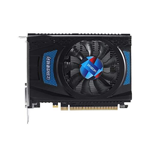 Docooler Yeston RX550-4G Tarjetas gráficas D5 Memoria Radeon Chill de 4GB GDDR5 128Bits 6000MHz DP1.4HDR + HDMI2.0b + DVI-D GPU de tamaño pequeño