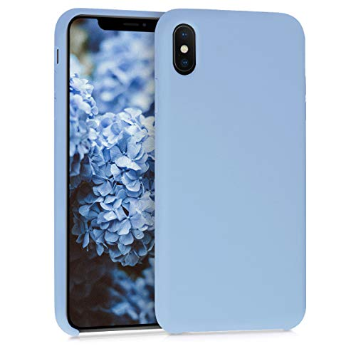kwmobile Apple iPhone XS Max Hülle - Handyhülle für Apple iPhone XS Max - Handy Case in Taubenblau