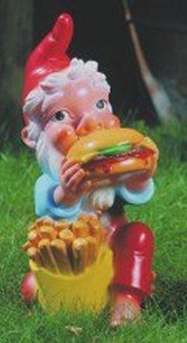 Zwerg mit Hamburger
