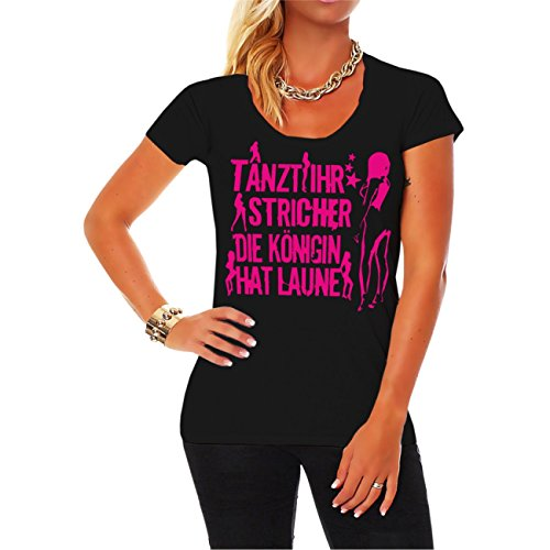 Life Is Pain Frauen und Damen Tshirt Tanzt Ihr Stricher die Königin hat Laune PINK