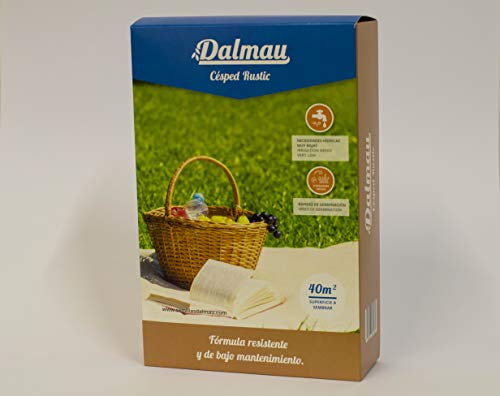 SEMILLAS DALMAU Semillas de Césped Resistentes, Mezcla Rústic, Semillas para Jardines Públicos y Privados, Bajo Mantenimiento y Bajo Consumo de Agua, 1kg