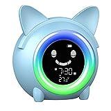 KELIWOW - Sveglia per bambini con funzione di sveglia e sonno/sveglia, con luce notturna e controllo...