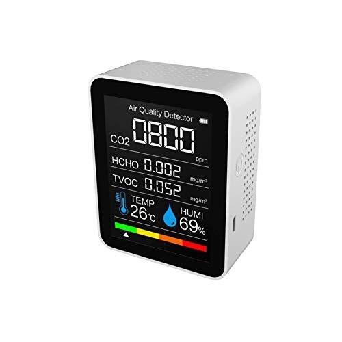 Nrkin Comprobador de calidad del aire, monitor de calidad del aire, herramienta de prueba para detección multifunción para el hogar, la oficina o el coche