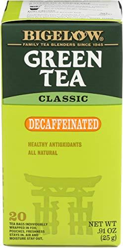 Bigelow Classic Green Tea Decaffeinated, 20 ct