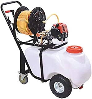 HYLAN Petrol Engine Pump Sprayer Pest Control, Medcine Sprayer,Fogging Machine,Power Sprayer Portable Cart Sprayer (50L tw...
