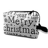 メリークリスマス 化粧ポーチ メイクポーチ コスメポーチ トラベルポーチ トイレタリーバッグ シングルファスナーポーチ 大容量 ペンケース 化粧品 洗面用具 小物入れ 収納 ハンドバッグ 財布 防水