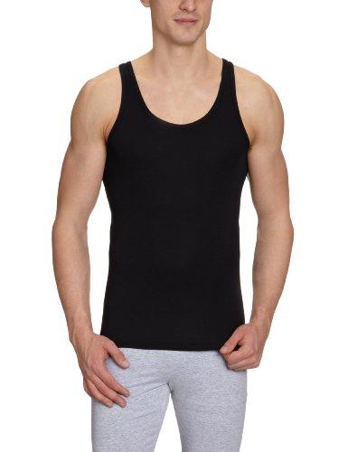 Schiesser Herren Unterhemd 005120-000, Gr. 6 (L), Schwarz (000-schwarz)