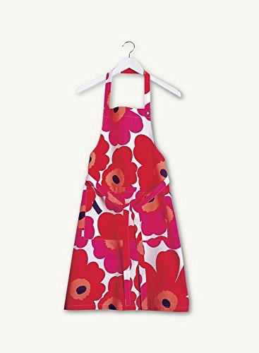 Marimekko Unikko Red Apron 84 by 85 cm