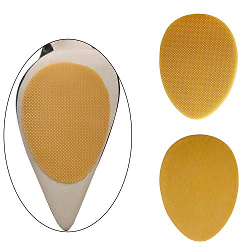 BIGIICO High Quality Adhesive Anti-Slip Stick Pad for Shoes Upgraded Skid Proof Sole Stick Protector Noise Reduce 5 Pairs (Brown)