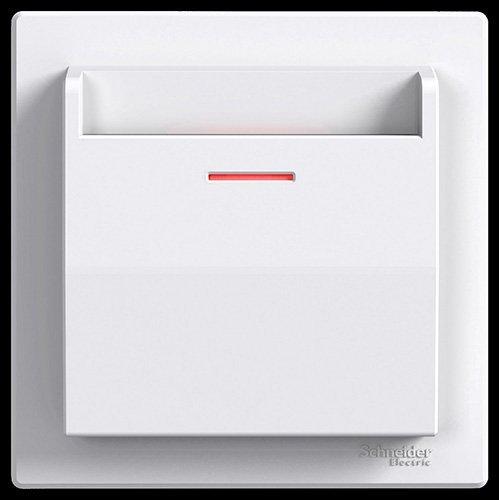 Schneider Electric EPH6200121 Interruptor de Tarjeta 10 A, Blanco