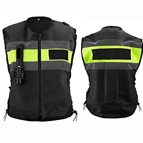 Chaleco Con Airbag De Cuatro Estaciones Chaleco De Moto Con Airbag Activar Mecánicamente El Airbag Para Evitar Lesiones Por Caídas Con Cinta Reflectante, Conducción Más Segura. (2 Colores, 6 Tamaños)