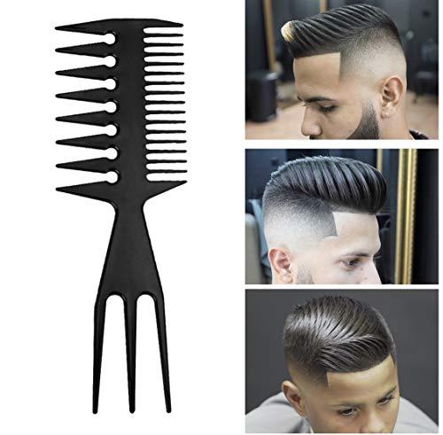 [Barber] peine de peluquería a Dent Large doble cara multifuncional resistente alta temperatura