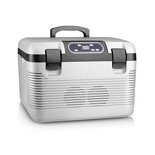 Auto Kühlbox, Kompressor Kühlbox Gefrierbox Mit Anschluss Für Pkw Und LKW Kühlschrank Mini-Kühlschrank Gefrierbox,Weiß