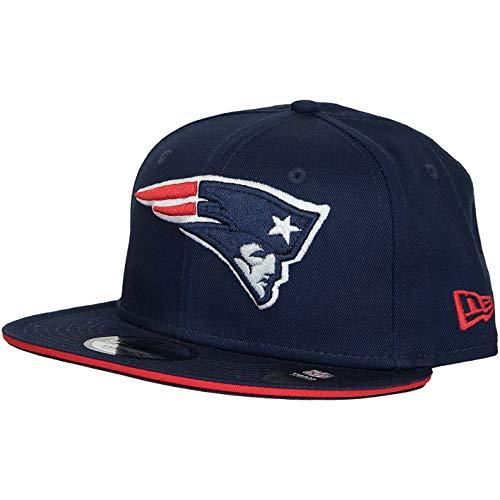 New Era 9Fifty Casquette snapback NFL New England Patriot (M-L, Bleu marine)