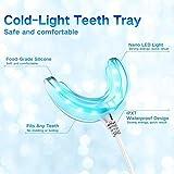 Zahnbleaching-Set von Ptkoonn mit Bleaching-Gel (10x 3ml), 2 Mundschalen und LED-Licht