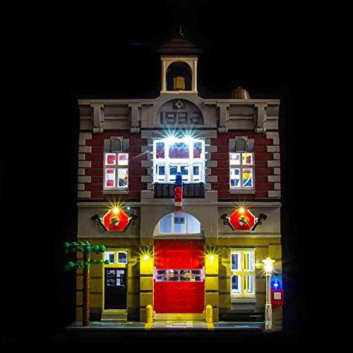 Led Beleuchtungsset Für Lego Creator Feuerwache,Kompatibel Mit Lego 10197 Bausteinen Modell (Modell Nicht Enthalten)