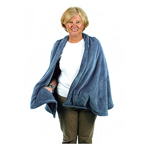 Warm fleece cape for indoors or outdoors