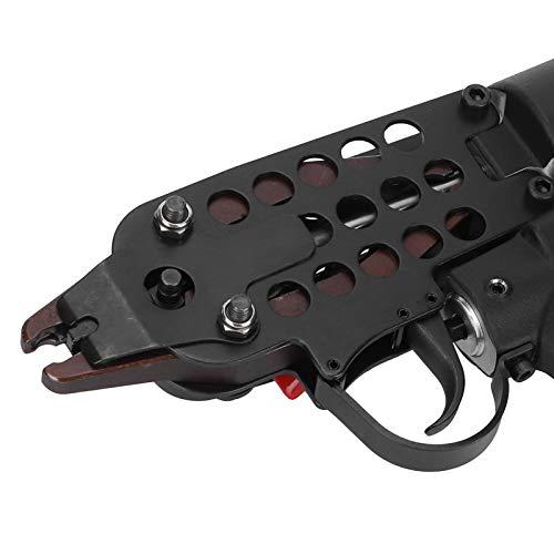 Pistolas para clavar neumáticas, clavadora neumática en C Herramienta para clavar con anillo en C de aire comprimido ergonómicamente para fijar jaulas para alicates de jaula