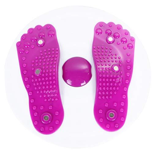 ABOOFAN Indoor-Fitnessplatte Twist Board Magnetplatte Twist Disk Schlankheits Beine Fitnessgerät für Zuhause (lila)