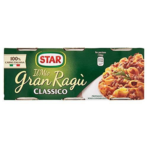 Star Gran Ragù di Carne Classico, 3 x 100g