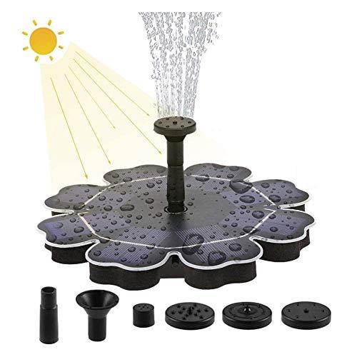 Zonnevogel bad fontein pomp, gratis staande drijvende zonne-energie waterfontein pomp met 4 mondstuk, voor vogel bad, tuin, vijver, zwembad, buiten