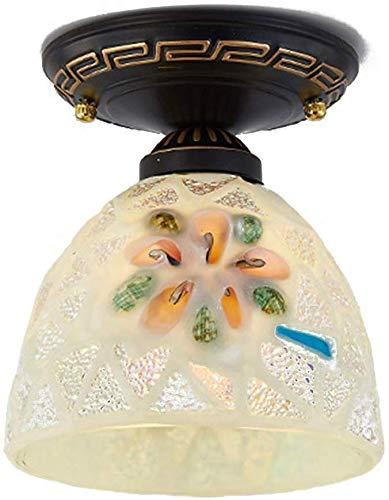 Plafondlamp, glazen wand, meerkleurige lampen, warm wit, gezellige sfeer, voor ingewikkelde processen, ijzer en plafondlamp met
