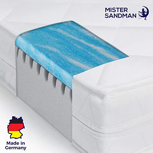 Mister Sandman Matratze mit Gelschaumauflage - Mikrofasermatratze mit Geltopper - Matratze mit Gelauflage (140 x 200 cm, Mikrofaserbezug)