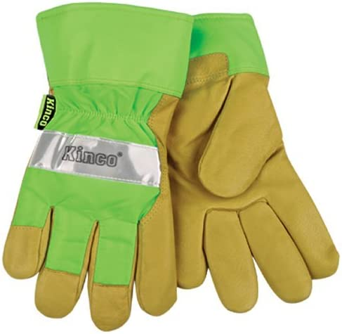 KINCO 1939-XL Some reservation Men's Selling rankings High Visibility Cuff Pigskin Lined Safety Gl
