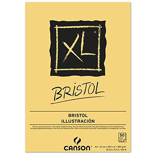 CANSON XL® Bristol, Bristolblock, DIN A4, 50 Blatt, 180 g/m²