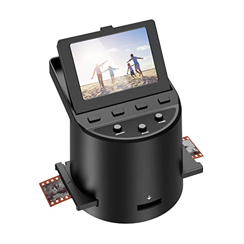 Hochauflösender 22MP Diascanner,Konvertiert Super-8-Filme, 35-mm-Dias und -Negative,110 und 126 Film zu Digital Photo, Unterstützt PC und Mac