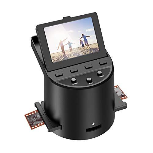 Escáner de película Escáner de Alta resolución con 3,5' LCD, Convierte 35 mm/Super 8/110/ 126 película, Compatible con Mac y PC