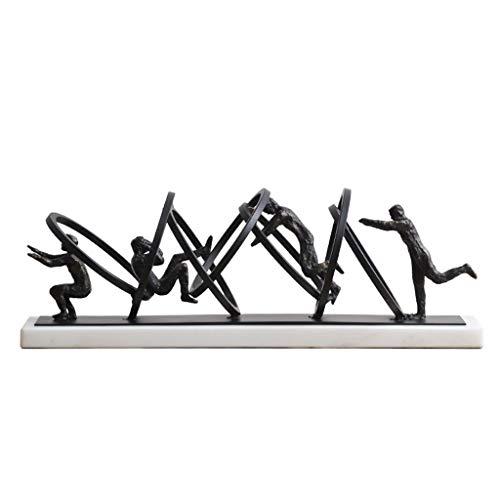 Decoración de Escritorio Gimnasia Atleta Actuaciones Adornos estatua moderna minimalista Modelo habitación del hotel Clubes Inicio Salón Dormitorio decoración elegante y decoraciones hermosas decoraci