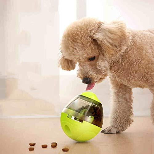 Mascotas con Fugas Bola de Comida Perro de Juguete para aliviar Stuffy Artifact Puzzle Tumbler Slow Food Mordida Resistente Inteligencia Suministros de Juguetes (Color : Green)