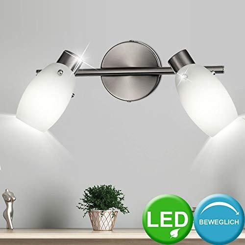 Wand Lampe Decken Spot Leuchte Strahler beweglich Glas Beleuchtung im Set inkl. LED Leuchtmittel