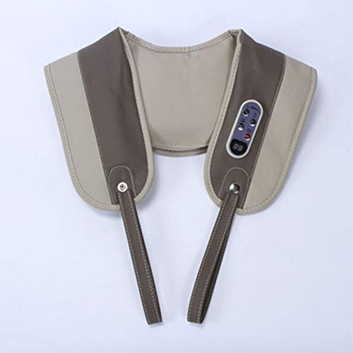 Electric Back Massage with Soothing Heat, Deep Tissue 3D Kneading Shoulders Can Relax at Home, Office and Car,Gray