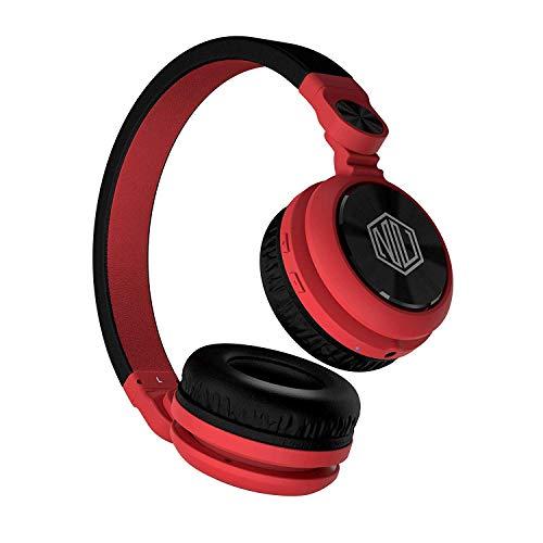 Nu Republic Starboy X-Bass Wireless Headphone with Mic (Red & Black)